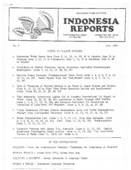 Indonesia Reports July 1985