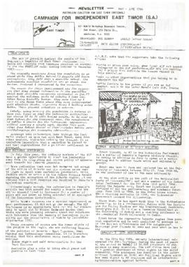 Australian Coalition for East Timor (National) newsletter - May-June 1986