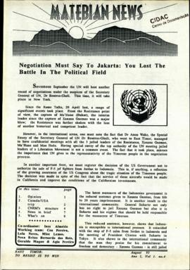 Matebian News (East Timor: To Resist is to Win) 1993-08