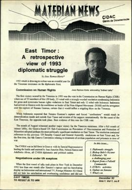 Matebian News (East Timor: To Resist is to Win) 1993-12