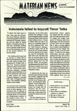 Matebian News (East Timor: To Resist is to Win) 1995-03