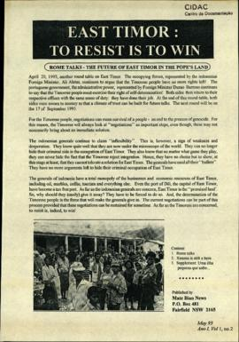 Matebian News (East Timor: To Resist is to Win) 1993-05