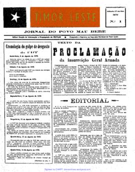 "Journal ""Timor Leste"" 1975-09-27"