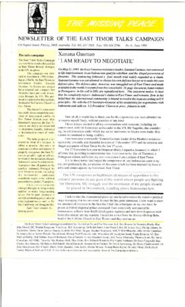 The Missing Peace Newsletter 1993-06