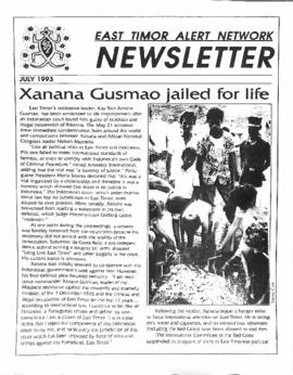East Timor Alert Network Newsletter 1993-07