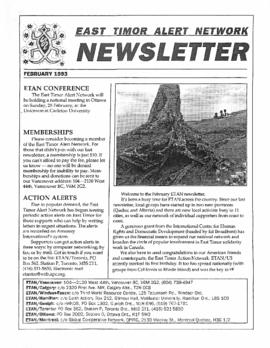 East Timor Alert Network Newsletter 1993-02