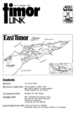 Timor Link Newsletter 1985-12