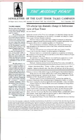 The Missing Peace Newsletter 1992-02