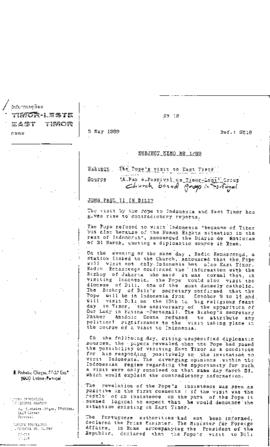 East Timor News Monthly Memo 1989-06