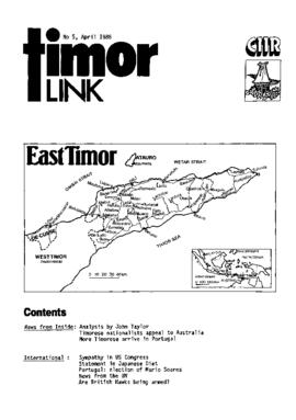 Timor Link Newsletter 1986-04