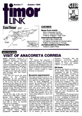 Timor Link Newsletter 1986-10