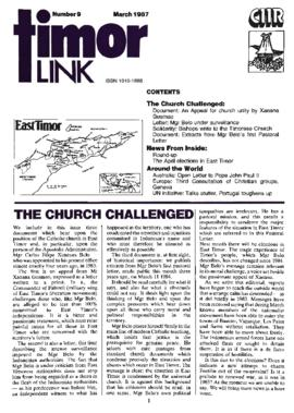 Timor Link Newsletter 1987-03